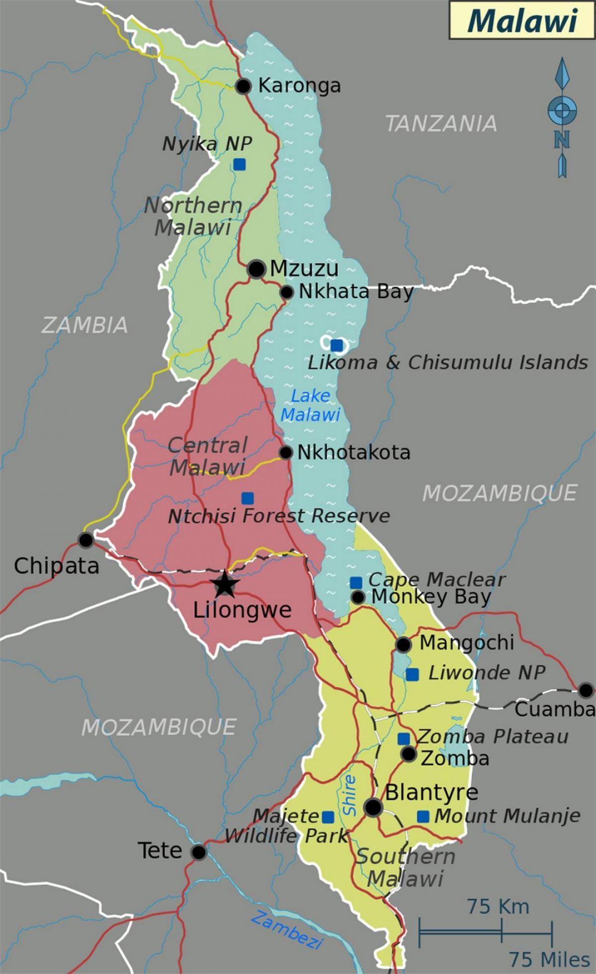 Lake Malawi Africa Map.Lake Malawi Africa Map Map Of Lake Malawi Africa Eastern Africa