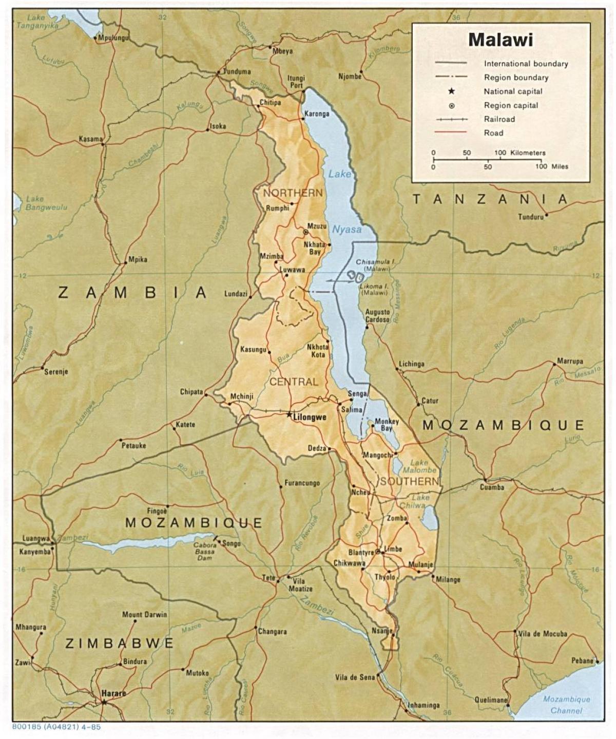 Lake Malawi Africa Map.Lake Malawi Map Lake Malawi On Map Eastern Africa Africa