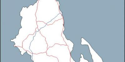 Map of Malawi map outline