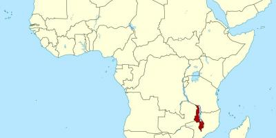 Malawi location on world map